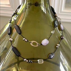 Silpada black onyx and pearl necklace